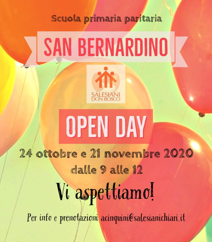 Open day scuola primaria istituto salesiano San Bernardino Chiari  BS