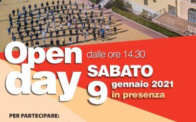 SABATO 9 GENNAIO 2021 – Open Day IN PRESENZA dei LICEI DI SAN BERNARDINO